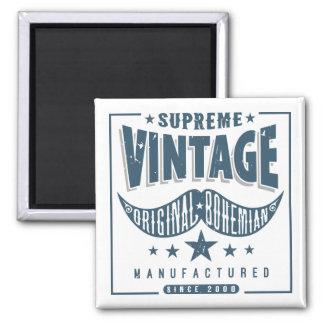 Vintage Hipster Mustache Magnet