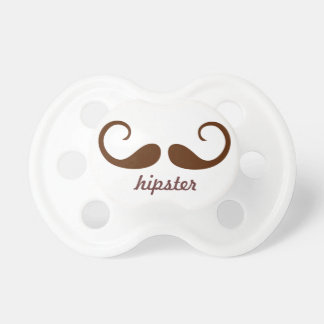 vintage hipster mustaches BooginHead pacifier