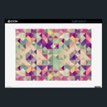 "Vintage Hipsters Geometric Pattern. Laptop Decals<br><div class=""desc"">Colorful retro hipsters triangle seamless pattern illustration. Vector file layered for easy manipulation and custom coloring. &#169; and &#174; Bigstock&#174; - All Rights Reserved.</div>"