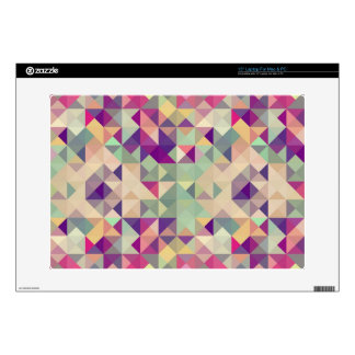 Vintage Hipsters Geometric Pattern. Laptop Decals