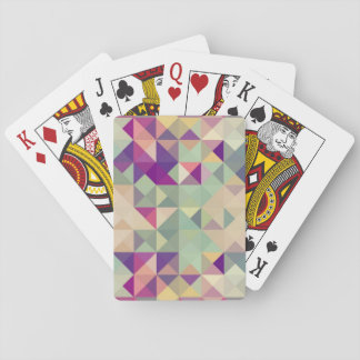 Vintage Hipsters Geometric Pattern. Playing Cards