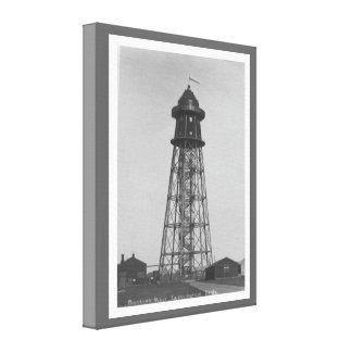 Vintage historic airship, Cardington mooring mast Canvas Print