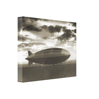 Vintage historic airship, R101 at Cardington Gallery Wrapped Canvas