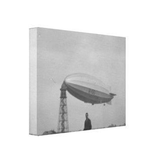 Vintage historic airship, R101 at Cardington Stretched Canvas Prints