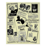 Vintage & Historic coffee ad medley-1922 Poster