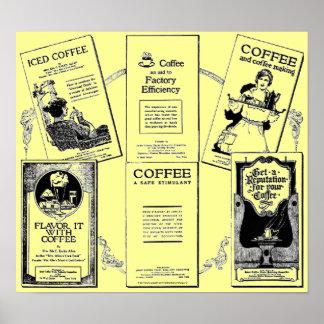 Vintage Historic coffee booklet medley Print