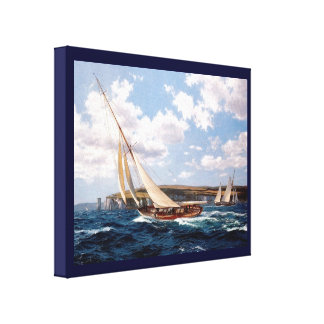 Vintage Historic Racing yachts off Isle of Wight Canvas Print