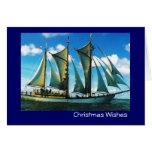 Vintage Historic ship, Poland, Zarwia Czarrny Greeting Card