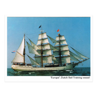 "Vintage historic ships,  ""Europa"", Holland Postcard"