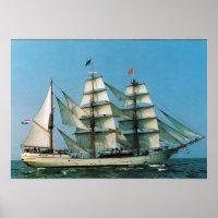 Vintage historic ships, Europa, Holland Poster
