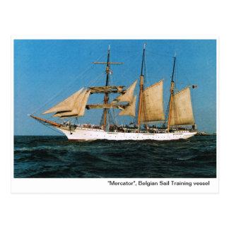 "Vintage historic ships,  ""Mercator"", Belgiium Postcard"