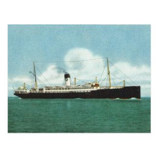 Vintage historic ships,  MVs Suecia and Britannia, Postcard