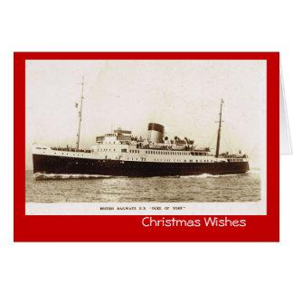 """Vintage historic ships,  """"SS Duke of York"""" Card"""