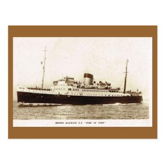 "Vintage historic ships,  ""SS Duke of York"" Postcard"