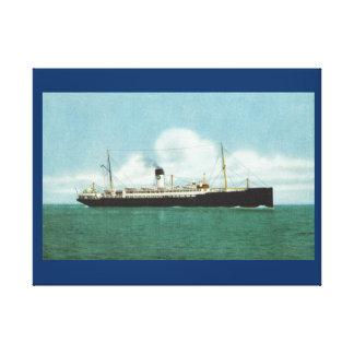 "Vintage historic ships, ""SS Suecia"" Swedish lloyd Canvas Print"