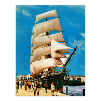 Vintage historic ships, Star of India, San Diego Postcard
