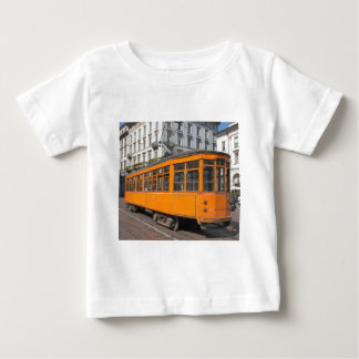 Vintage historical tramway train in Milan, Italy Baby T-Shirt