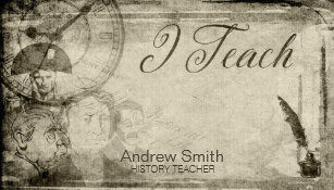 For history teacher business cards zazzle vintage history i teach business card reheart Image collections