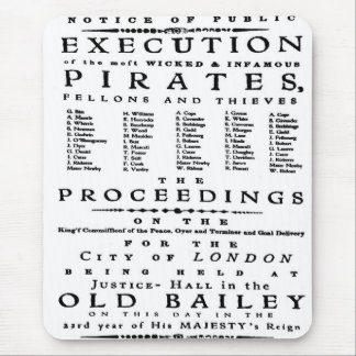 Vintage History London Pirate Execution Old Bailey Mouse Pad