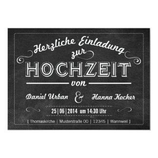 Vintage Hochzeitseinladung in Tafel-Optik Card