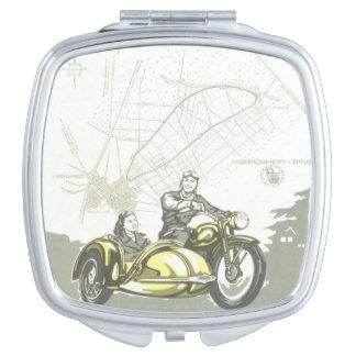 Vintage Hockenheimring Motorbike Ad Mirror For Makeup