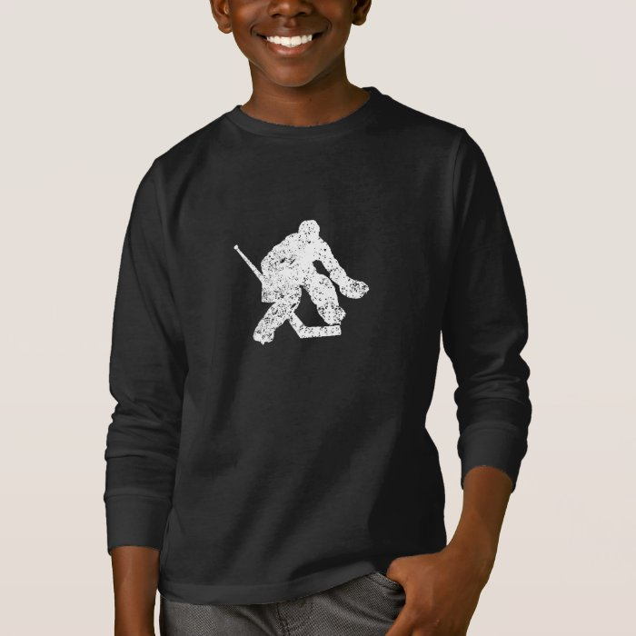 Vintage hockey goalie t shirt zazzle for Retro nhl t shirts