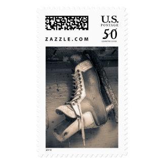 Vintage hockey skate BW Postage