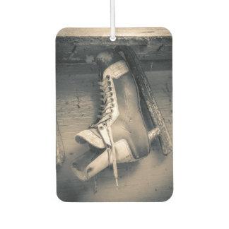 Vintage hockey skate car air freshener