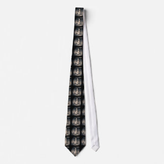 Vintage hockey skate pattern neck tie