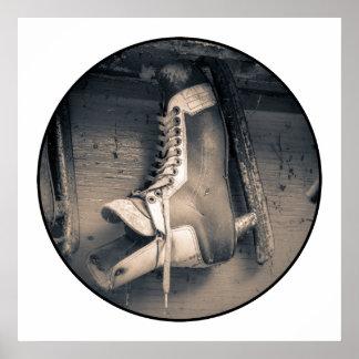Vintage hockey skate poster