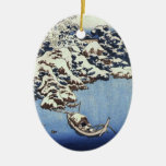 Vintage Hokusai Japanese Christmas Ornament