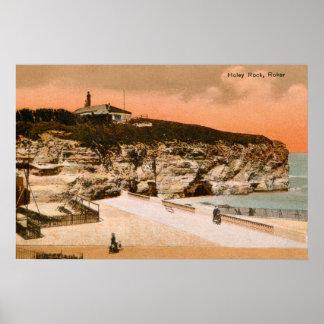Vintage Holey Rock Roker England Poster