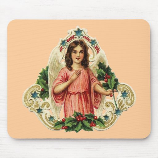 Vintage Holiday Angel Mousepads