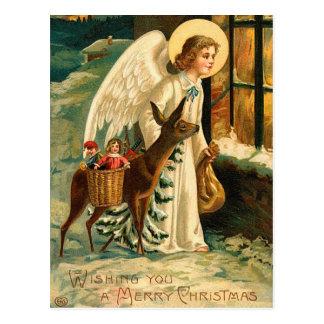 Vintage Holiday Angel Postcard