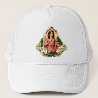 Vintage Holiday Angel Trucker Hat