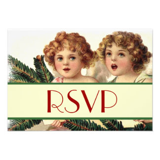Vintage Holiday Angels Singing Response Announcement