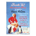 "Vintage Holiday Bachelorette Party Invitations 5"" X 7"" Invitation Card"