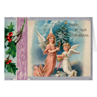 Vintage Holiday Card with 1910 Postcard