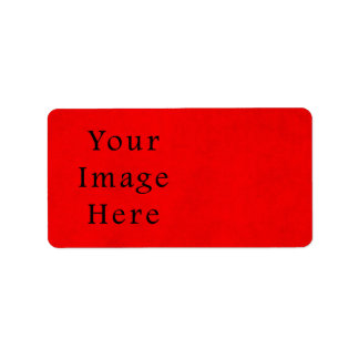Vintage Holiday Christmas Red Parchment Paper Personalized Address Labels