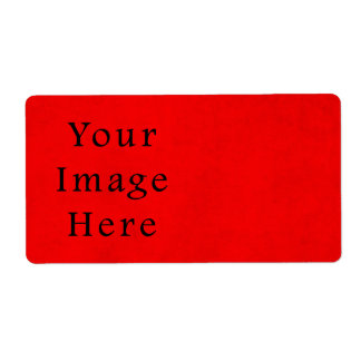 Vintage Holiday Christmas Red Parchment Paper Personalized Shipping Labels