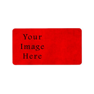 Vintage Holiday Christmas Red Parchment Paper Custom Address Label