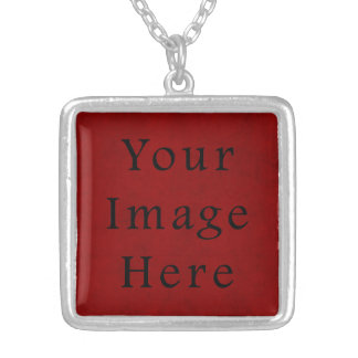 Vintage Holiday Christmas Red Parchment Paper Personalized Necklace