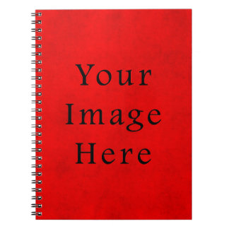 Vintage Holiday Christmas Red Parchment Paper Spiral Notebooks
