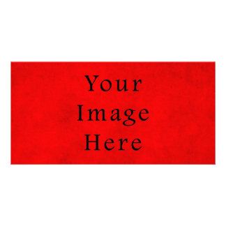 Vintage Holiday Christmas Red Parchment Paper Customized Photo Card
