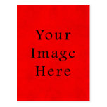 Vintage Holiday Christmas Red Parchment Paper Postcards