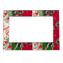 Vintage holiday Christmas wrapping paper frame