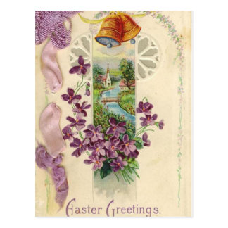 Vintage Holiday Easter Greeting Postcard