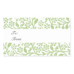 Vintage Holiday Gift Tag Chic Business Card Templates