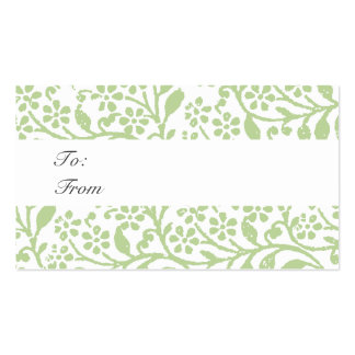 Vintage Holiday Gift Tag Chic Business Card