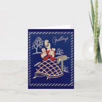 Vintage Holiday Greeting Card
